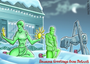 Detroit Holiday Spirit by Mike Thompson